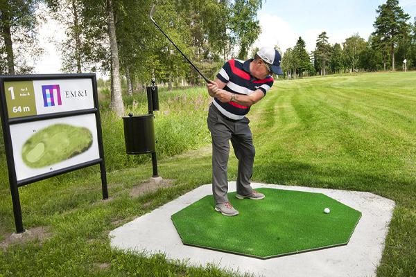 Korthålsbana på Umeå Golfklubb