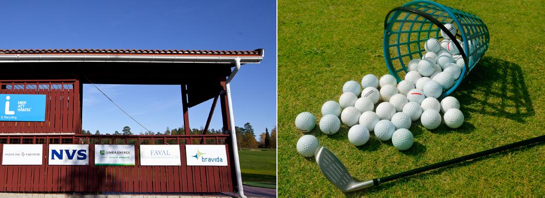 Driving range på Umeå Golfklubb
